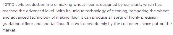 40T wheat flour making