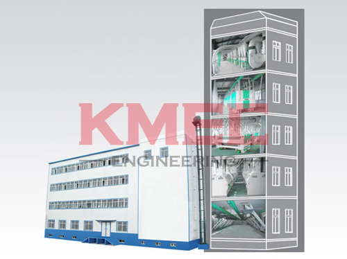 storey structure construction flour mill plant