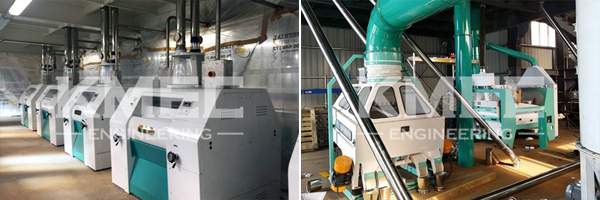 automatic operate wheat flour mill machine